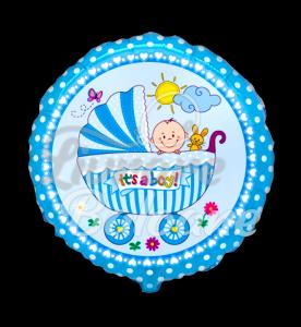 Baby Buggy BOY Sim, 48 cm, Flexa
