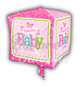 Cubez Welcome Baby Girl Butterfly, 38 * 38 cm, Anagram
