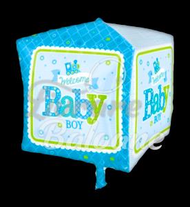 Cubez Welcome Baby Boy Train, 38 * 38 cm, Anagram
