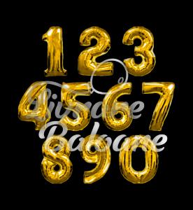 Numbers *** GOLD 102 cm, Flexmetal