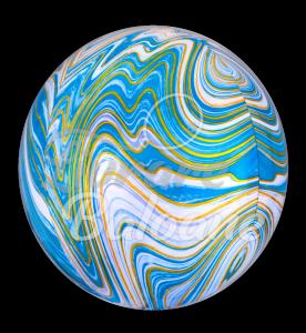Sfera Marblez Blue, 38 cm Anagram