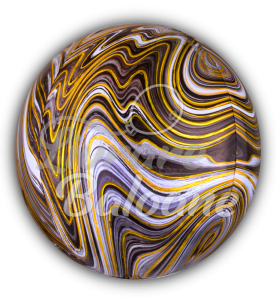 Sfera Marblez Black Foil Balloon, 43 cm, Anagram