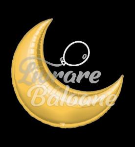 "Crescent  Moon  26"" Gold, Anagram"
