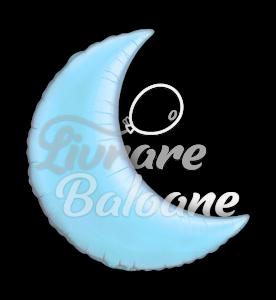 "Crescent  Moon  Light Blue 35"" , Qualatex"