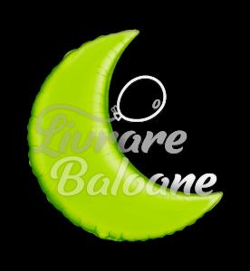 "Crescent  Moon Lime Green  35"" , Qualatex"