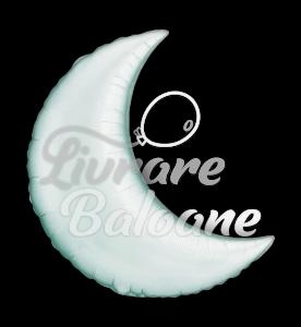 """Crescent  Moon  Silver 35"""" , Qualatex"""