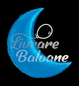 """Crescent  Moon  Blue 35"""" , Qualatex"""
