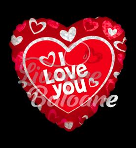 Balon Heart  I love You Floating Hearts 46 cm, Mexico