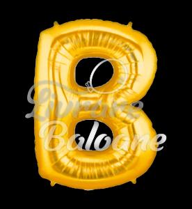 """Litera """"B"""" aur, Betallic102 cm , U.S.A."""
