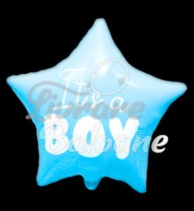 Stea folie - Este Baiat! , 48 cm, Light blue