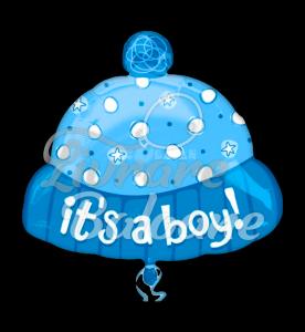 """It's A Boy Hat Foil Balloon Junior Shape XL - 18""""/45cm"""