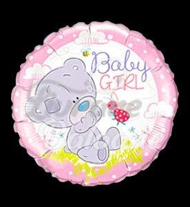 TINY TATTY TEDDY BABY GIRL, 46 cm, Qualatex