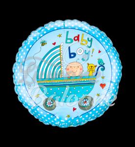 Rachel Ellen - Baby Boy Stroller, 46 cm, Qualatex