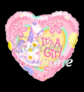 It's A Girl Soft Pony, 46 cm, Qualatex