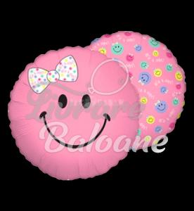 Smiley Baby Girl, 48 cm , Betallic